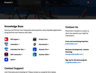 support.readdle.com screenshot