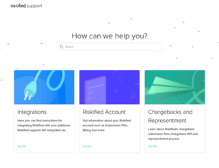 support.riskified.com screenshot