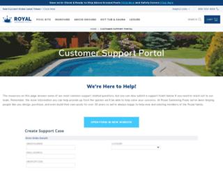 support.royalswimmingpools.com screenshot