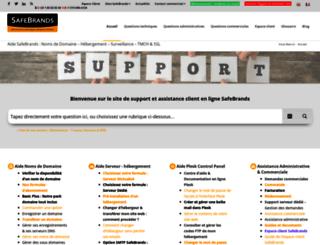 support.safebrands.fr screenshot