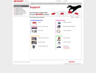 support.sharp.net.au screenshot