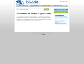 support.solano.edu screenshot