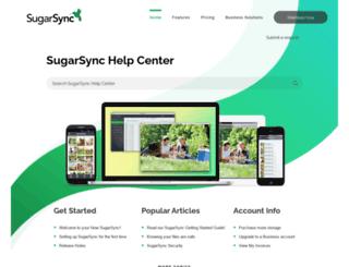 support.sugarsync.com screenshot