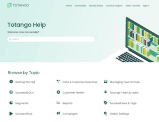support.totango.com screenshot