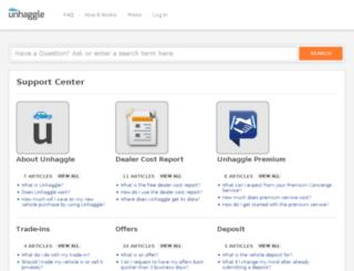 support.unhaggle.com screenshot