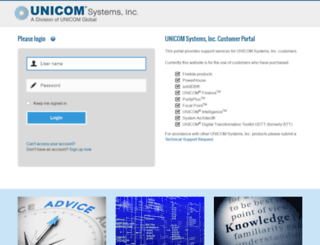 support.unicomsi.com screenshot