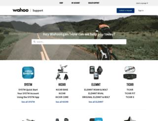 support.wahoofitness.com screenshot