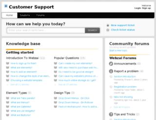 support.webzai.com screenshot