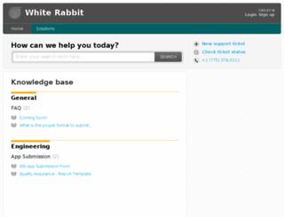 support.whiterabbit.is screenshot