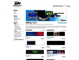 support.xmplay.com screenshot