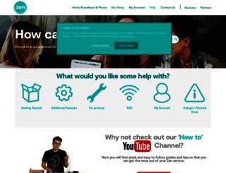 support.zen.co.uk screenshot