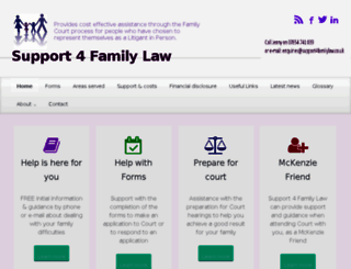 support4familylaw.co.uk screenshot