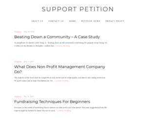 supportpetition.com screenshot