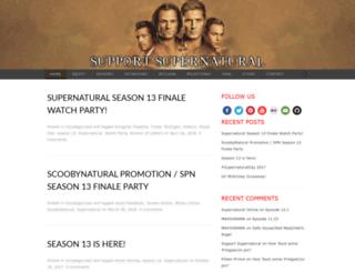 supportsupernatural.com screenshot