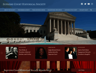 supremecourthistory.org screenshot