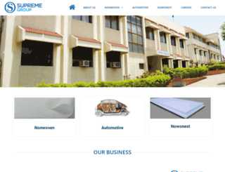 supremegroup.co.in screenshot