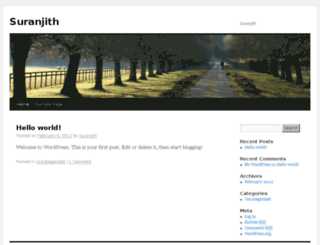 suranjith.info screenshot