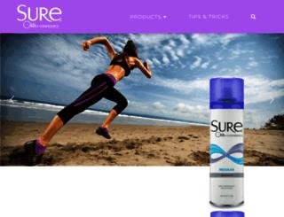 suredeodorant.com screenshot