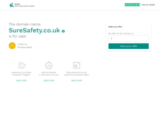 suresafety.co.uk screenshot
