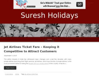 sureshholidays.bravesites.com screenshot