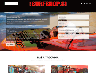 surfshop.si screenshot