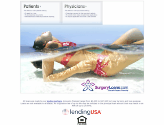 surgeryloans.com screenshot