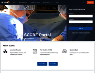 surgicalcore.org screenshot