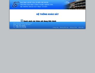 survey.uit.edu.vn screenshot