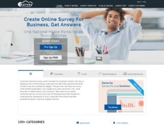 surveyforbusiness.com screenshot
