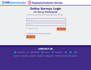 surveys.hrdownloads.com screenshot