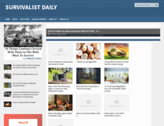 survivalistdaily.com screenshot