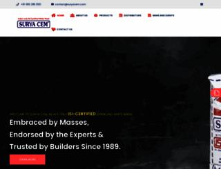 suryacem.com screenshot