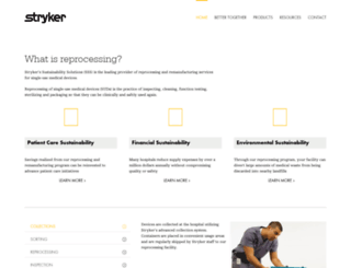 sustainability.stryker.com screenshot