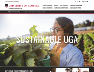 sustainability.uga.edu screenshot