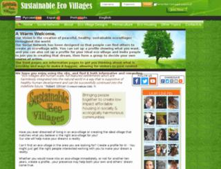 sustainableecovillages.net screenshot