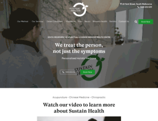 sustainhealth.com.au screenshot