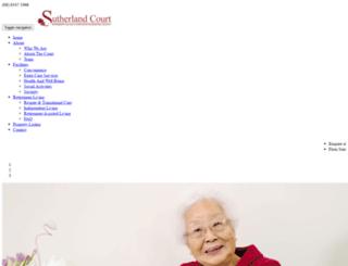 sutherlandcourt.com.au screenshot