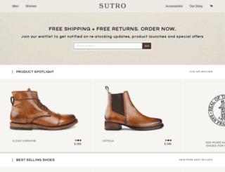 sutrofootwear.com screenshot