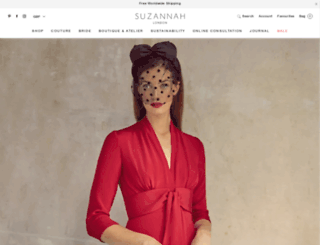 suzannah.com screenshot