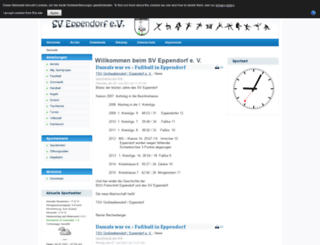 sv-eppendorf.de screenshot