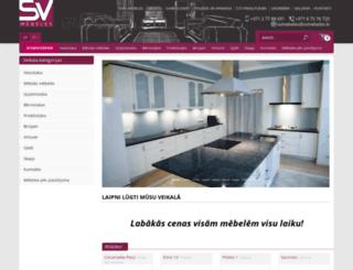 sv-mebeles.lv screenshot