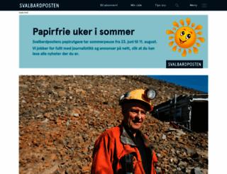 svalbardposten.no screenshot