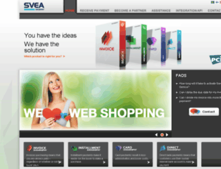 sveawebpay.com screenshot