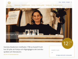 svenskaakademien.se screenshot