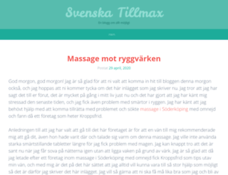 svenskatillmax.se screenshot