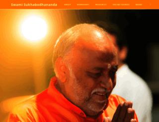 swamisukhabodhananda.net screenshot