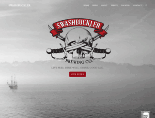 swashbucklerbrewing.com screenshot