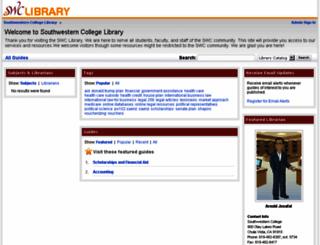 swccd.libguides.com screenshot