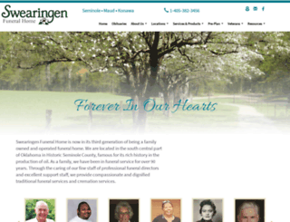 swearingenfuneral.com screenshot