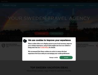 sweden.nordicvisitor.com screenshot